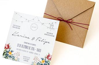 Convites de casamento Modernos - Felipe