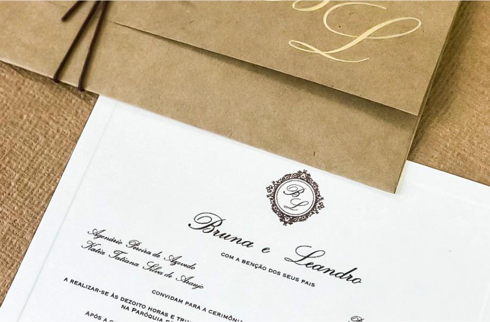 Convites de casamento no campo Sítio