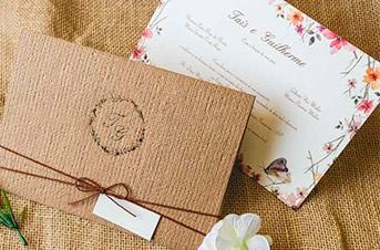 Convites de casamento Aquarela - Taís