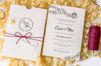 Convites de casamento Modernos - Theo
