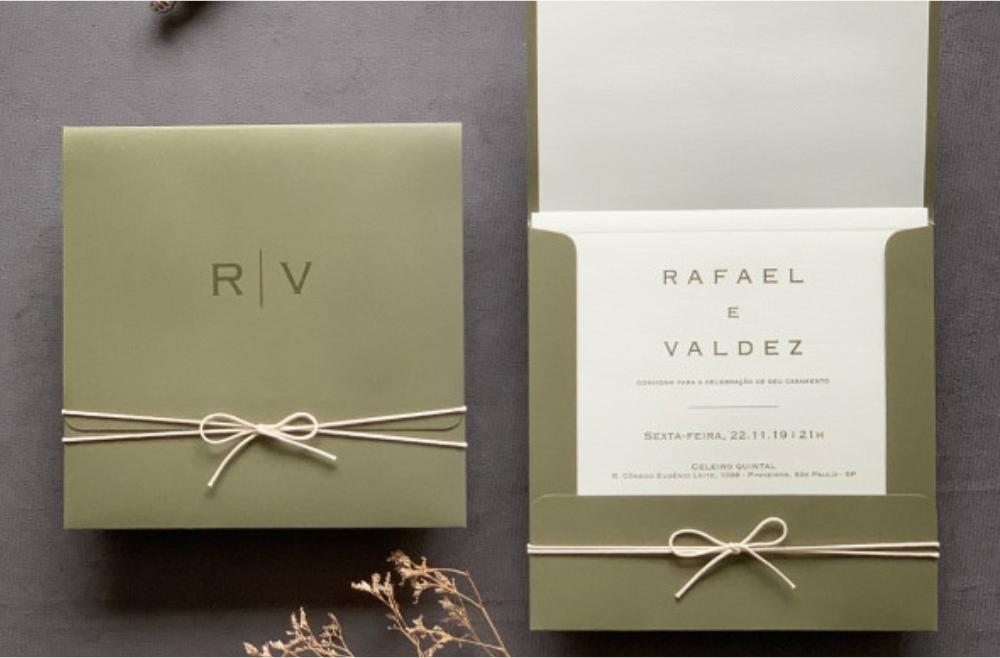 Convites de casamento Modernos - Valdez