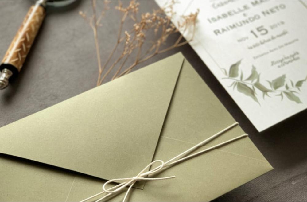 Convites de casamento no campo Verde Escuro