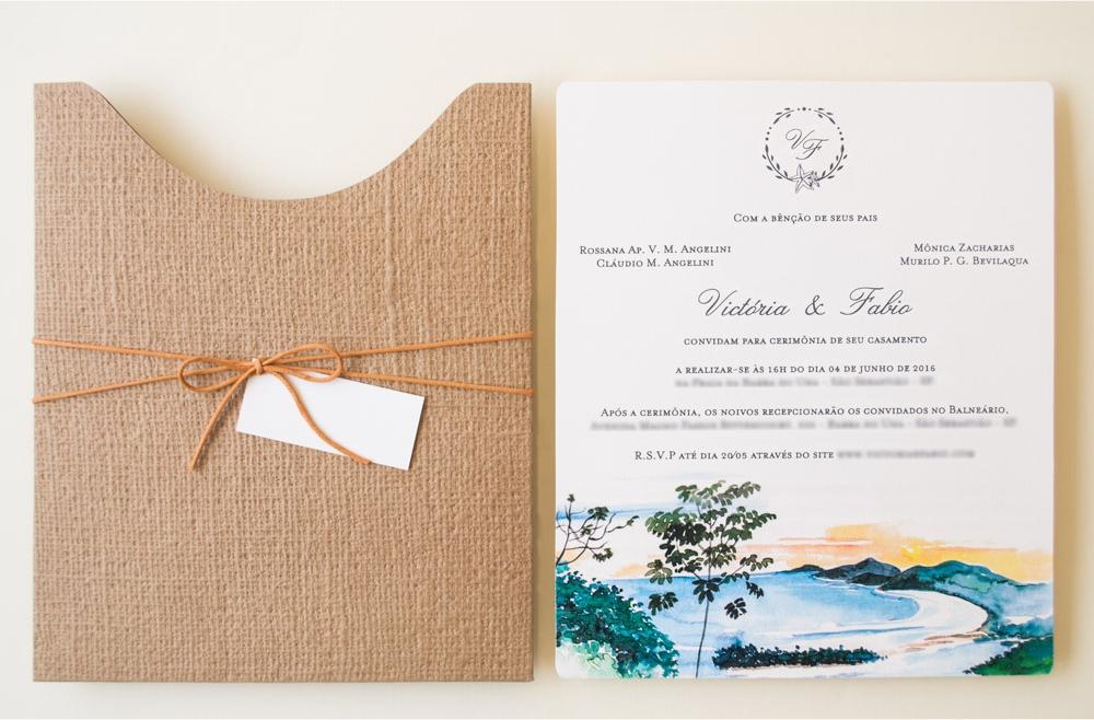 Convites de casamento no campo Victória