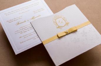 Convites de casamento tradicionais – Karina