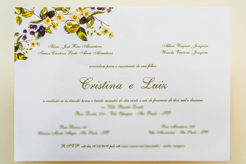 Convite De Casamento Campo Luiz