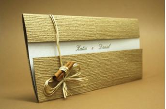 Convites de casamento Rústico - Cassia