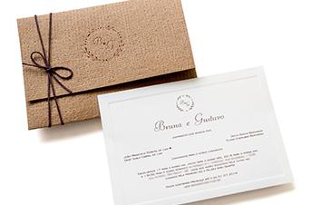 Convites de casamento Rústico - Bruna