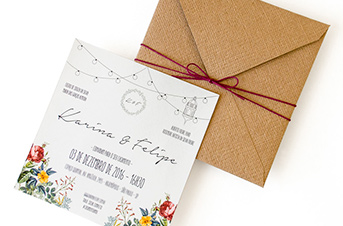 Convites de casamento Rústico - Felipe