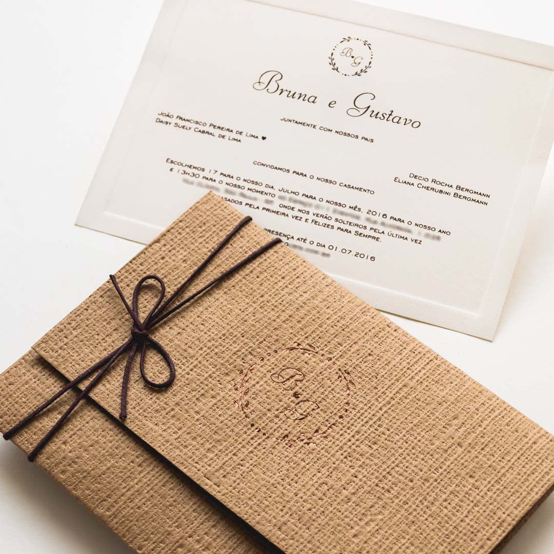 Convite De Casamento No Campo Bruna