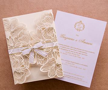 Convites de casamento Papel e estilo
