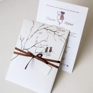 Convites de Casamento Simples camila