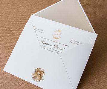 Convite de casamento em Limeira Papel e estilo