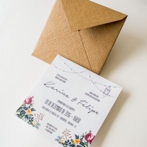 Convites de Casamento Simples - karina