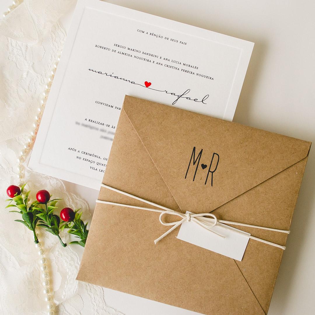 Convite de casamento barato preço papel e estilo modelo de convite rustico