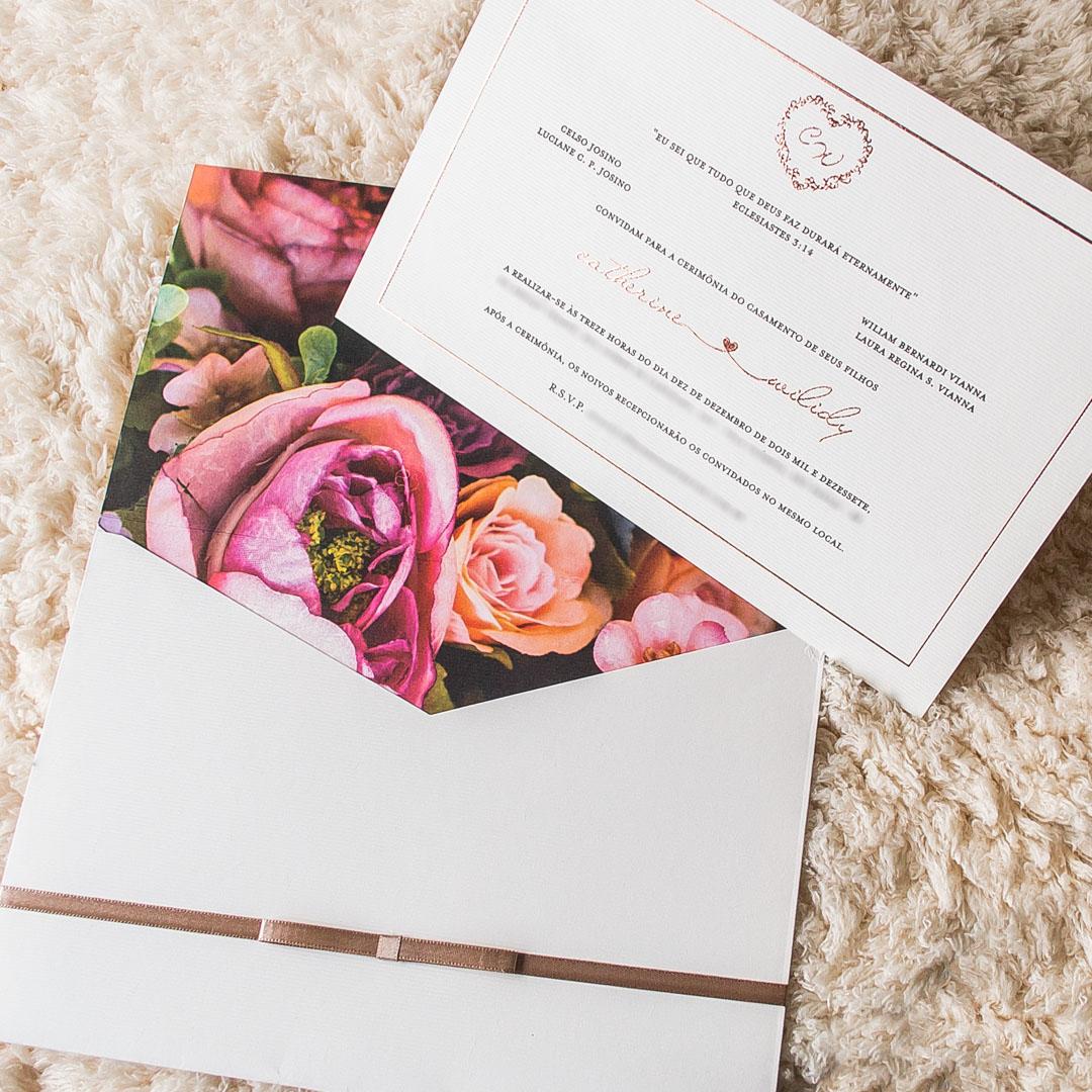 Convites de casamento Aquarela - Catherine