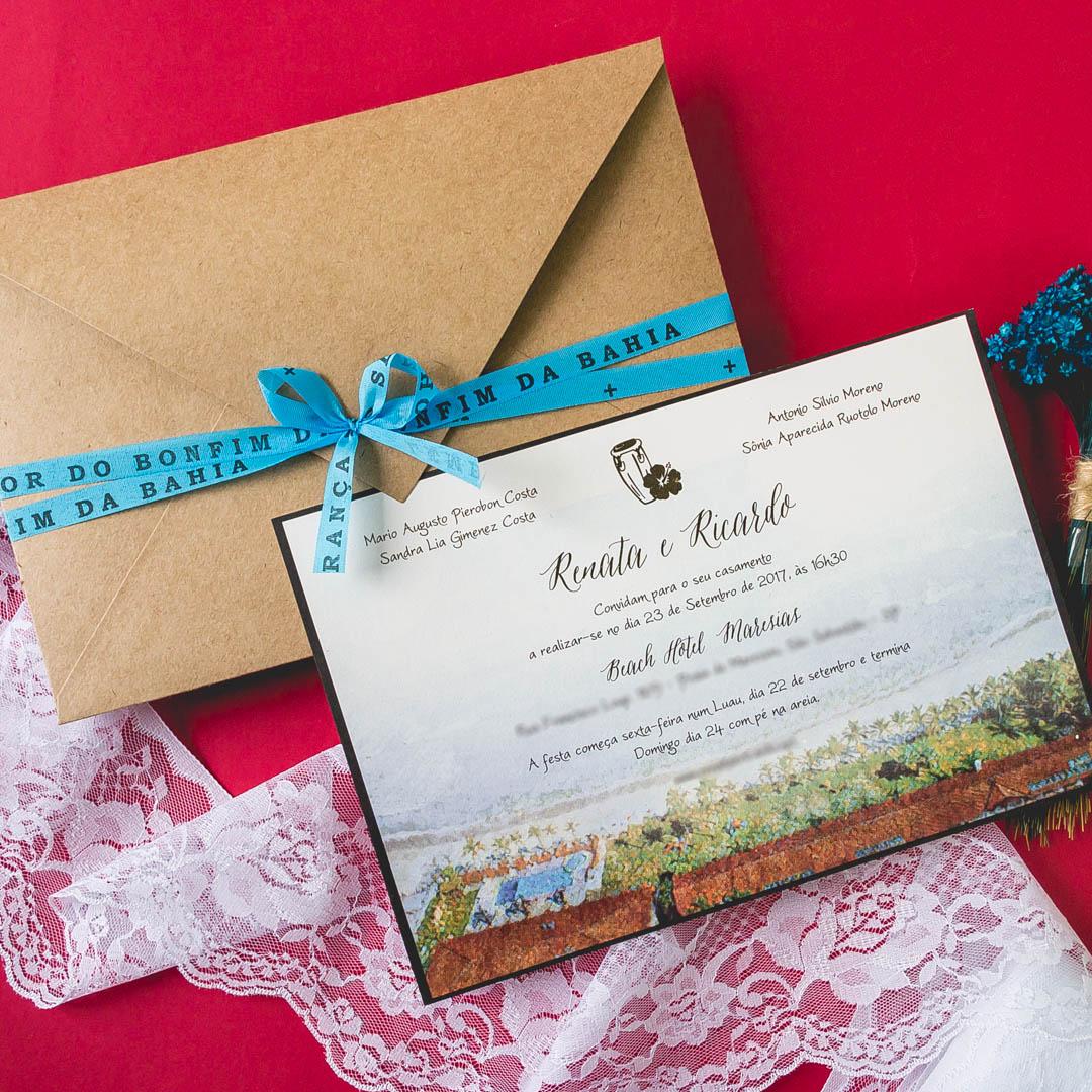 Convites de casamento - Bonfim