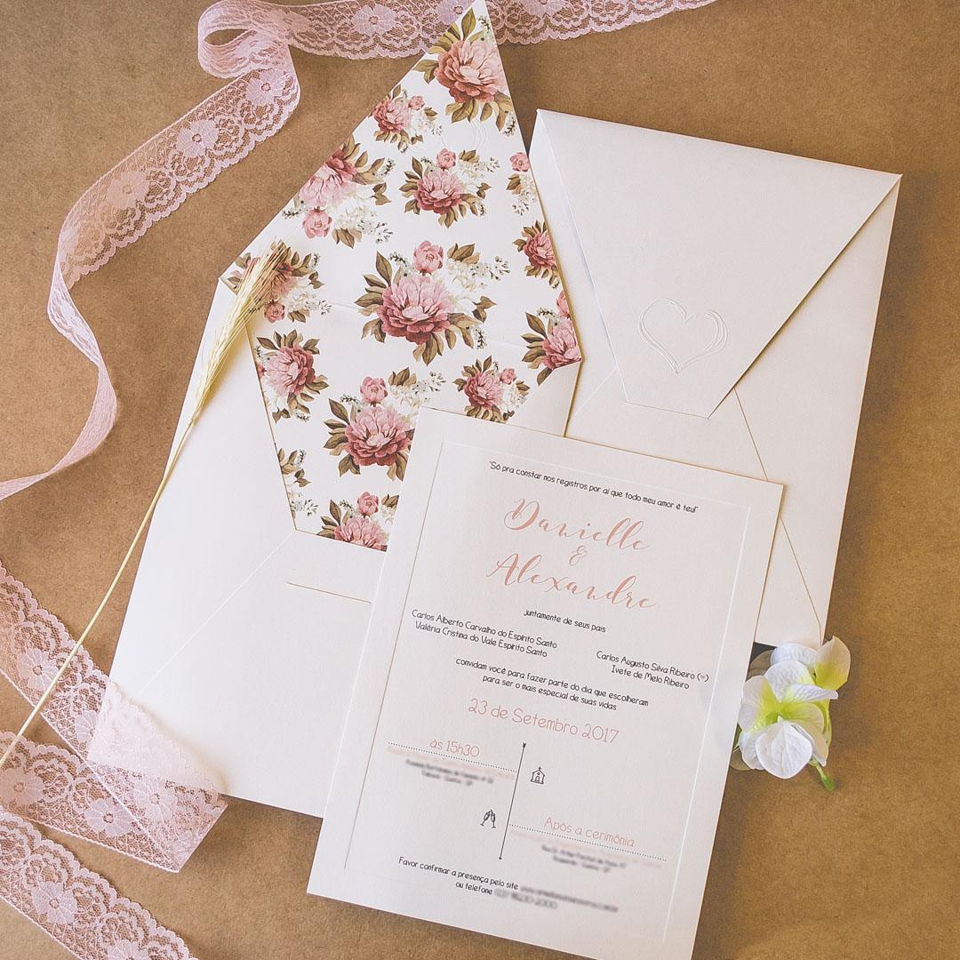 Convites de casamento - Cravos