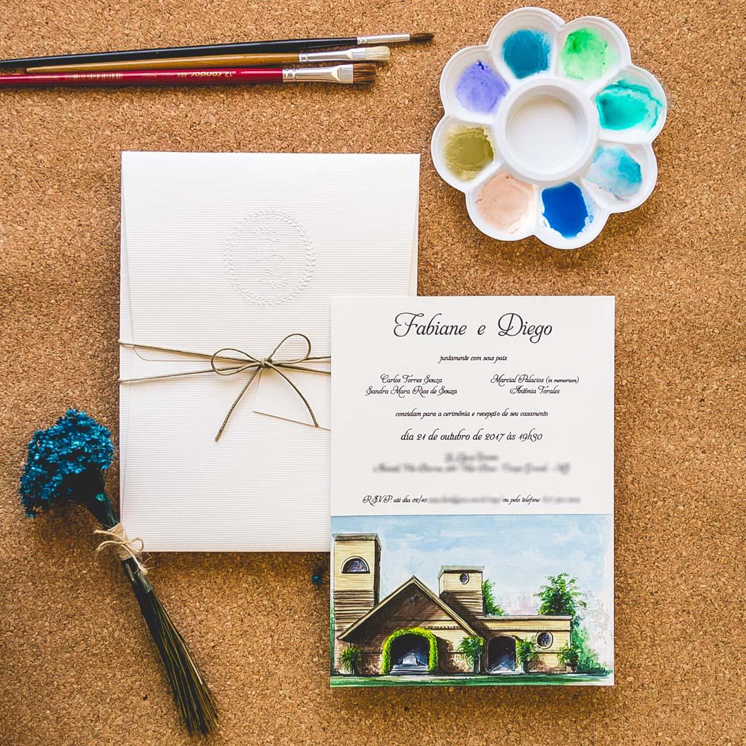 Convites de casamento - Paisagem