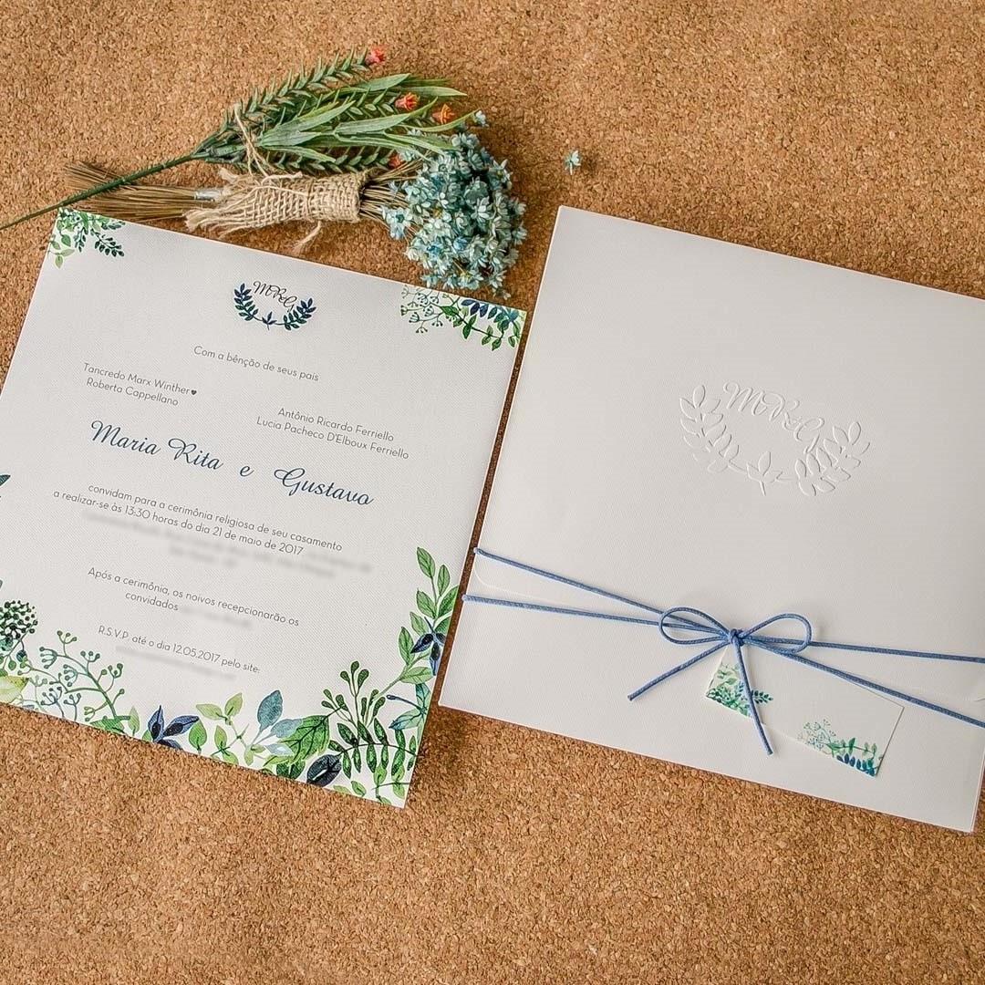 Convites de casamento - Maria Rita