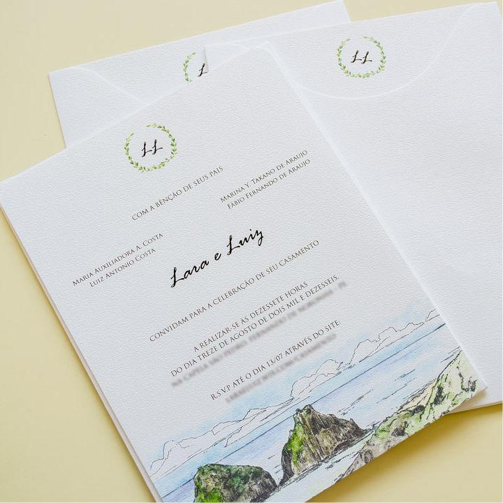 Convites de casamento - Rochedo