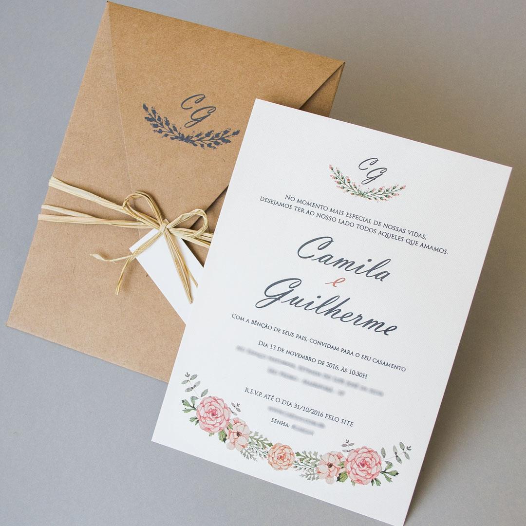 Convites de casamento - Guilherme