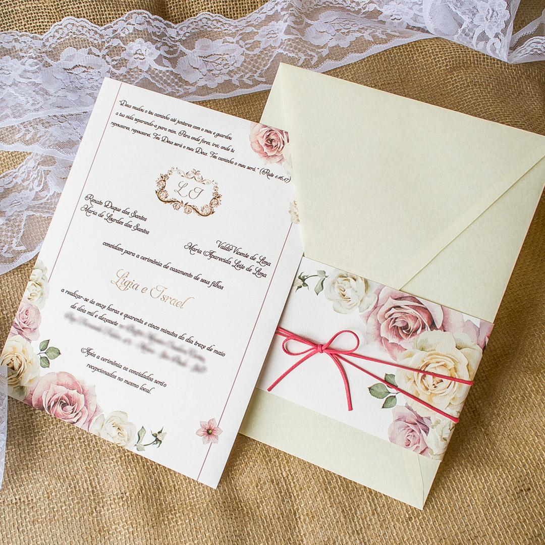 Convites de casamento Aquarela - Thiago
