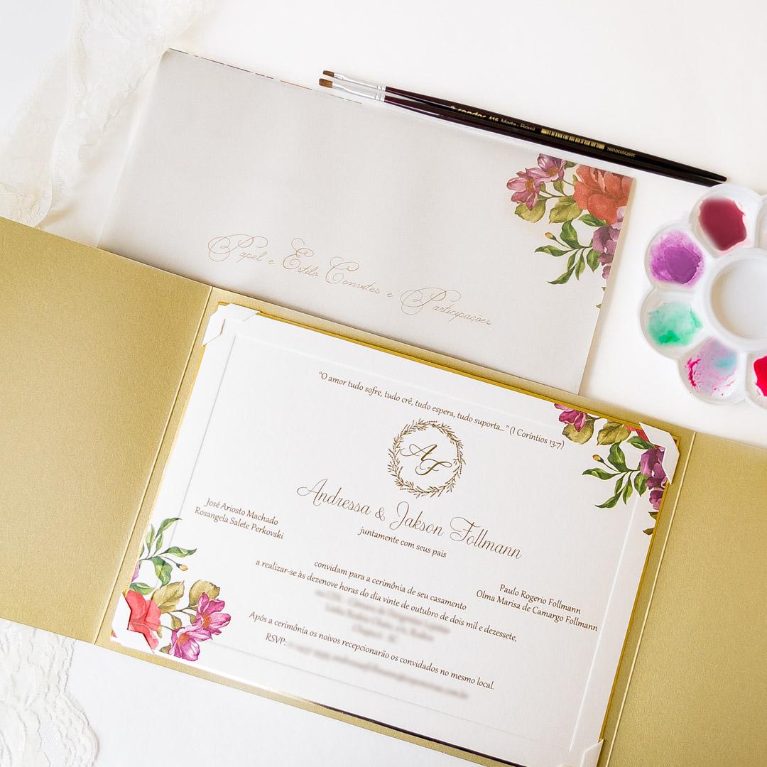 Convites de casamento - Follmann