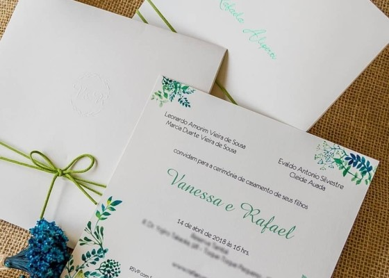 Caligrafia Convites de Casamento