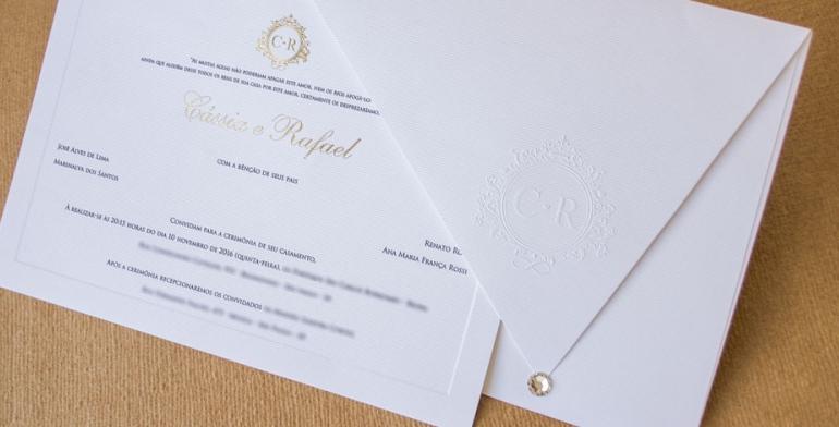 Convite com Cristal