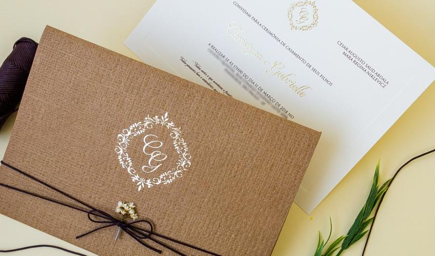 Brasão de casamento - Hot Stamping