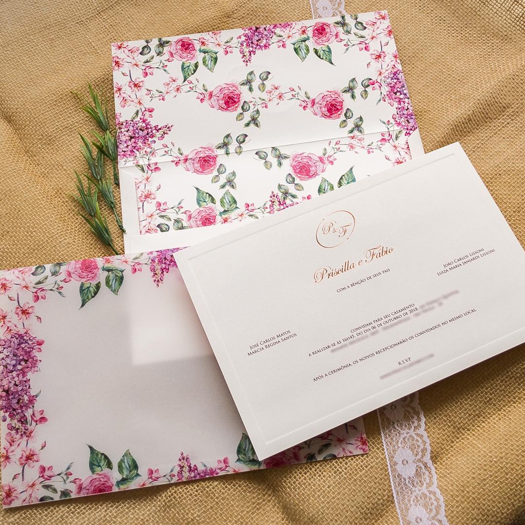Convite com Papel Vegetal
