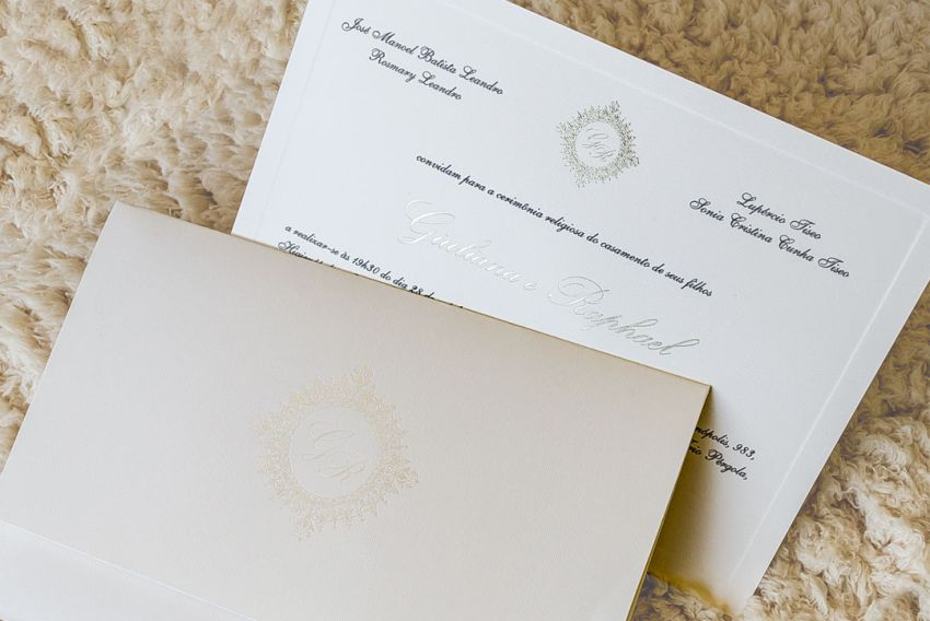 Convites de casamento simples e elegante