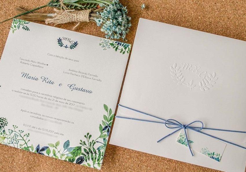 Convite para casar na fazenda vila rica