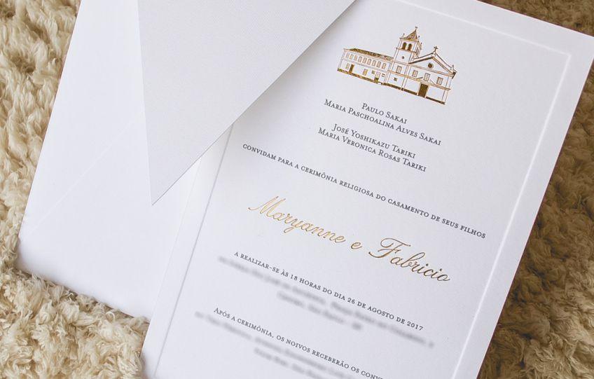 Convites de casamento simples