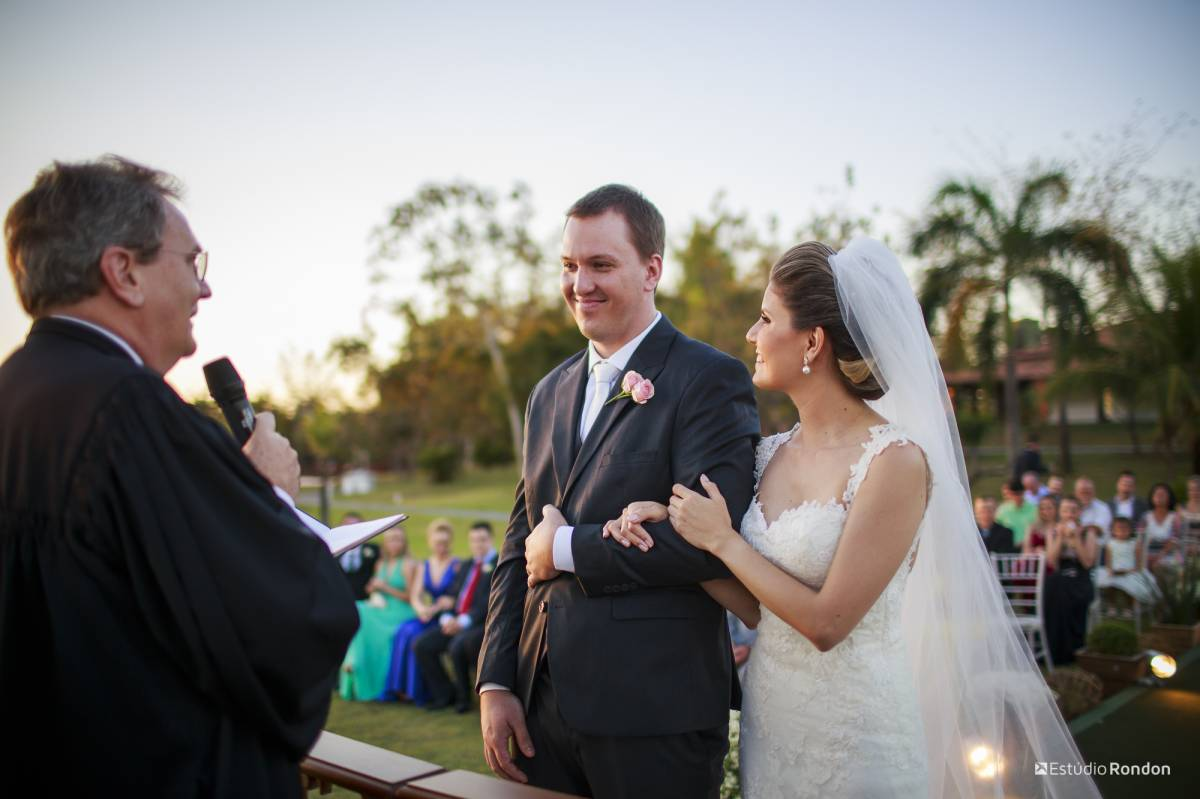 Casamento ao ar livre por do sol