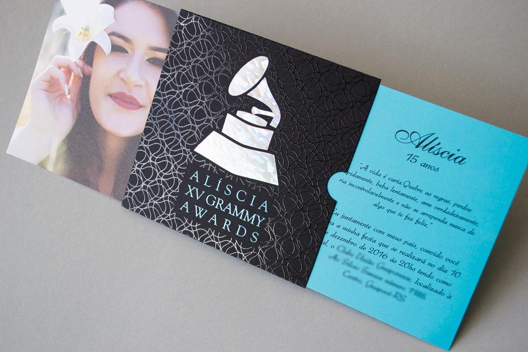 Convite 15 anos Grammy
