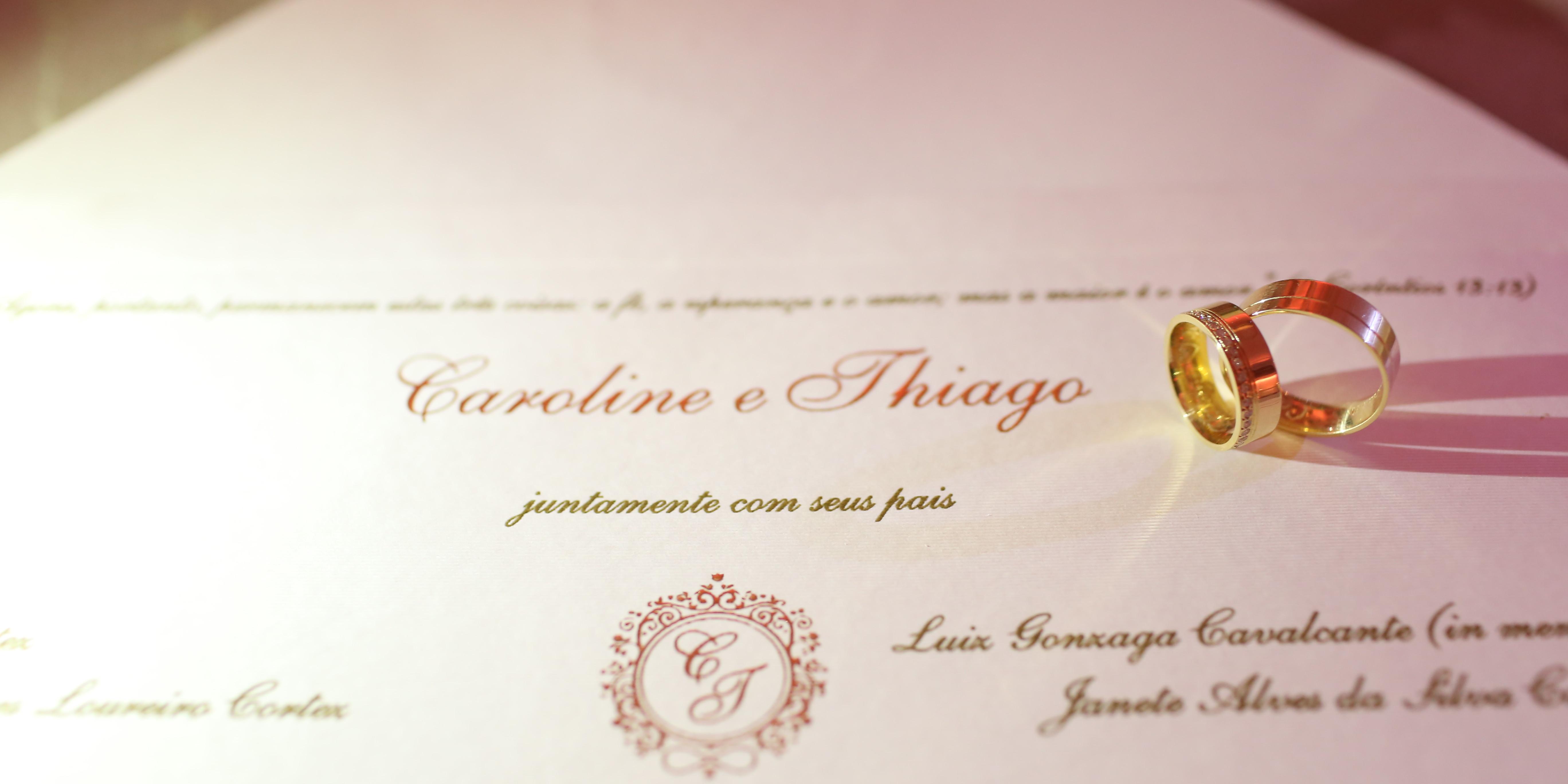Fotos de casamento convite