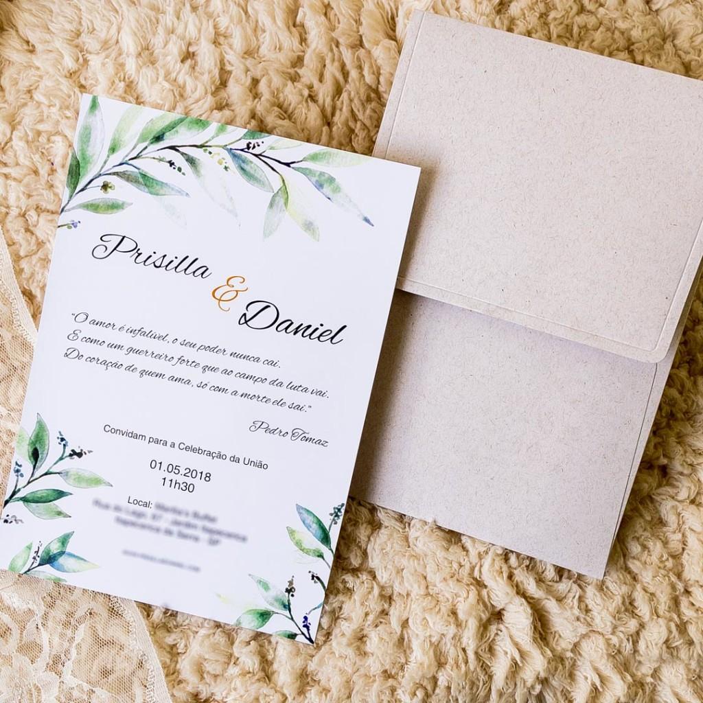 Convite simples colorido