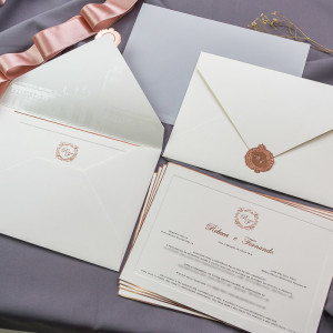 Convite de casamento Beca Milano e Fernando Pelégio