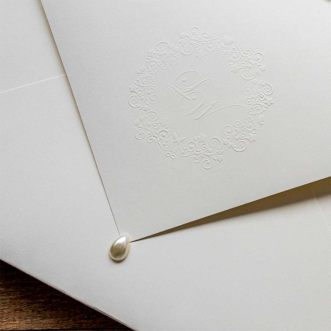 Convite de bodas de casamento - Perola