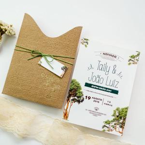 Arte de convite de noivado