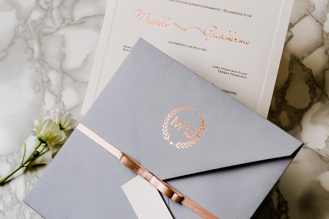 Convite de casamento clássico - Modelo C57 - Boutique do