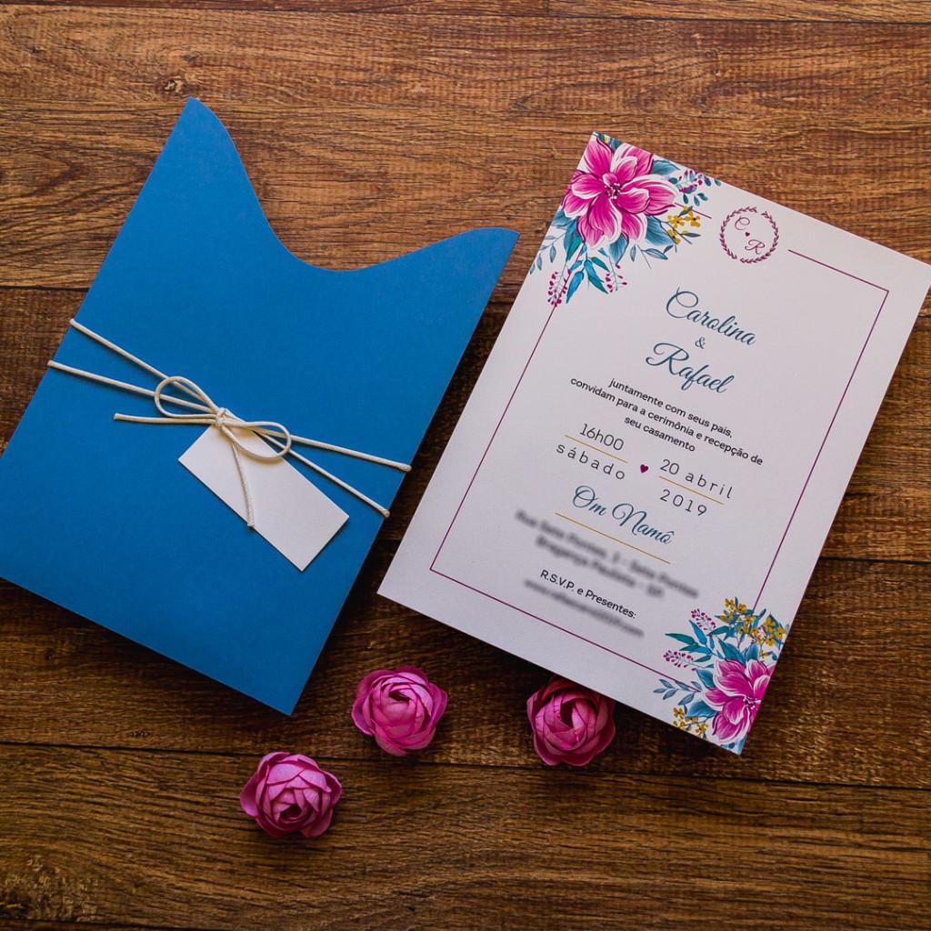 Convite para casamento de dia em casa