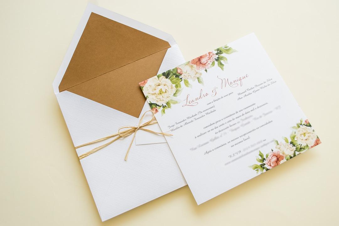 Papelaria de casamento - Convite de Noivado
