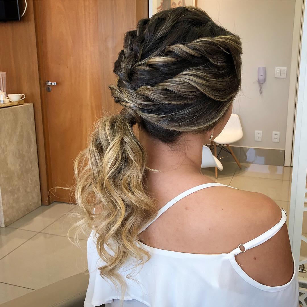 Penteados para festa de casamento - Longo