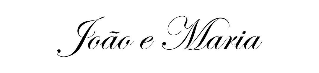 Letras para convite de casamento