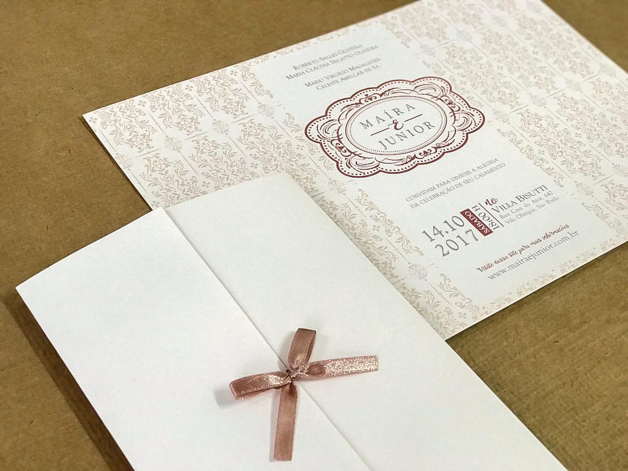 Convites de casamento tradicionais – Elegante