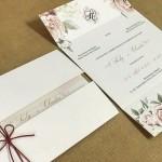 convite de casamento charmoso