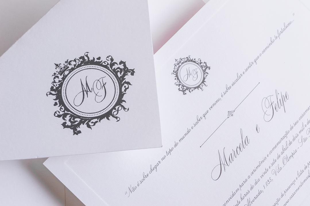 Convites de casamento tradicionais – Marcela