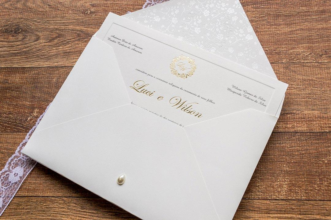 Convites de casamento tradicionais – Luci